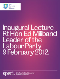 The SPERI Inaugural Lecture takes place on 9 February 2012