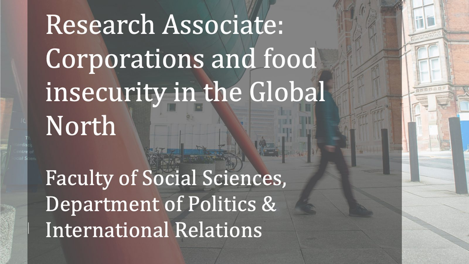 Research Associate: Corporations and food insecurity in the Global North